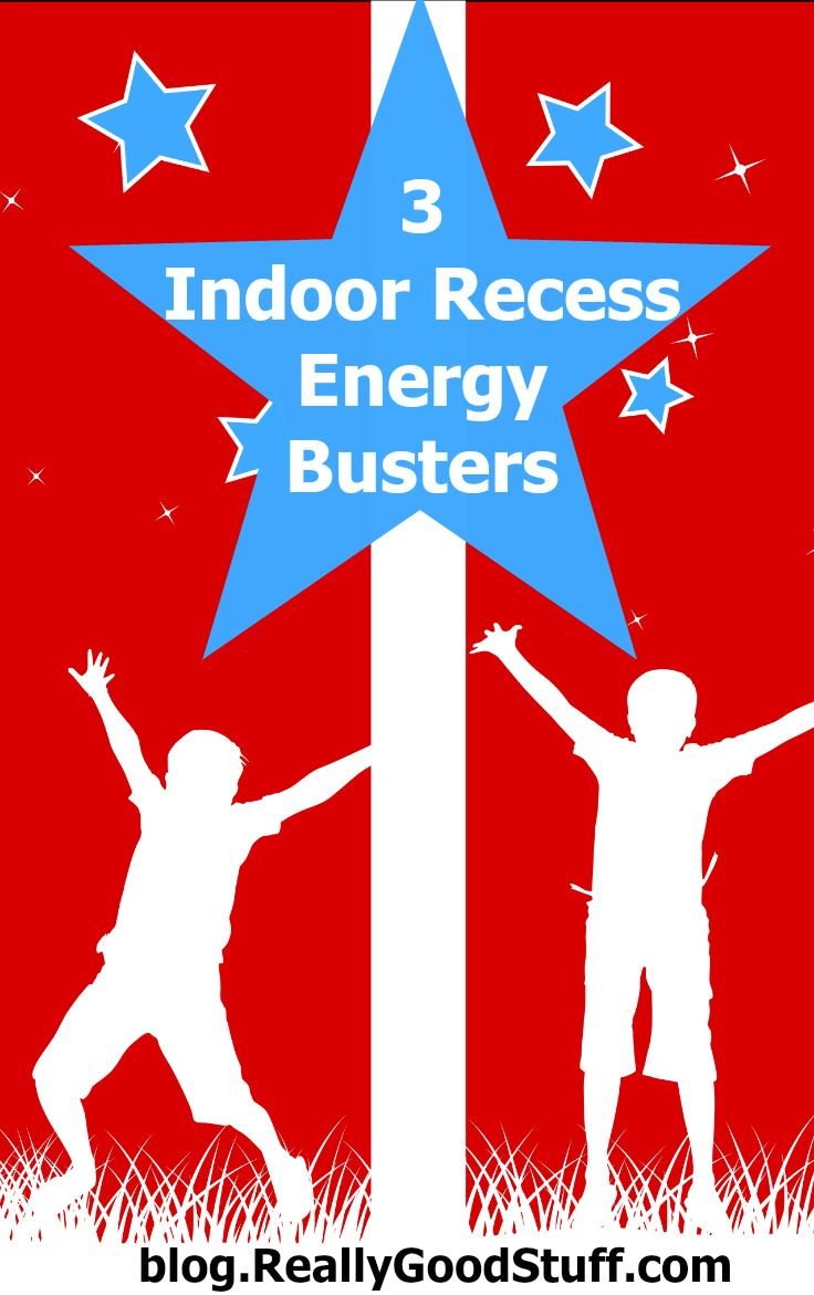 "Don't let the sound of ""indoor recess"" evoke fear! Here are 3 Indoor Recess Energy Blasters to help your students get their wiggles out."