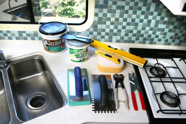 Rv Remodels Kitchen Backsplash Tools 200x Rv Backsplash Ideas Pinterest Travel