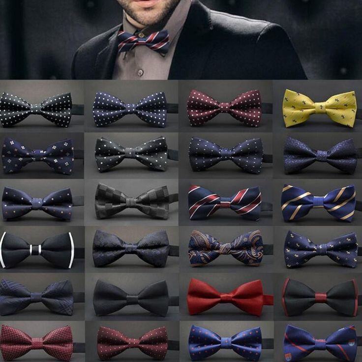 Legami di nozze Raso Regolabili Uomini Dot Tuxedo Classic Novità Del Partito Bow Tie Cravatta pajaritas hombre uomini noeud papillon