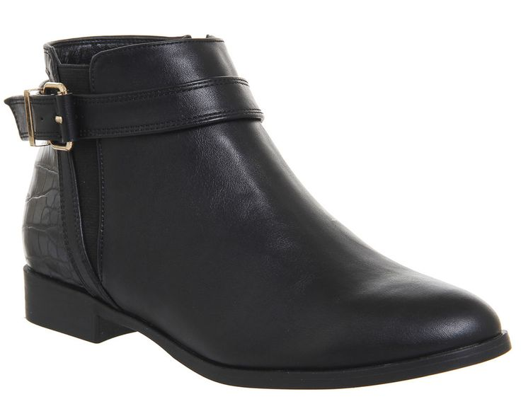 Womens Office Laurie Smart Buckle Boots BLACK Boots 5f90db74db