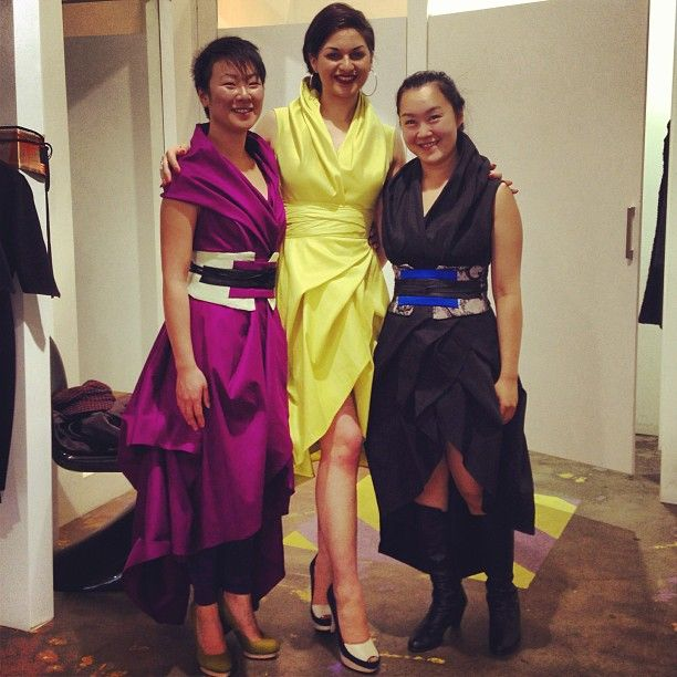 One amazing dress worn in different ways, three gorgeous women = styling heaven! Dress and obis from @dizingof