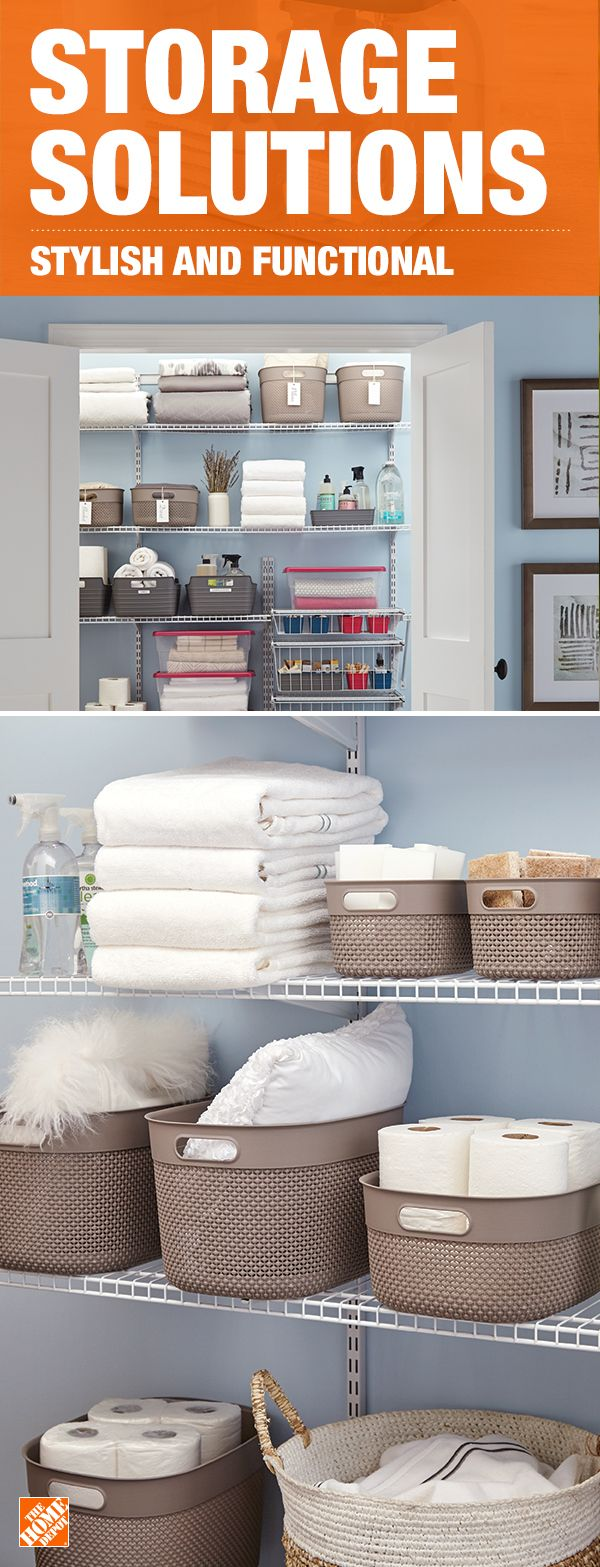 Storage containers can be just as stylish as they are functional. Perfect for closets, bathrooms or offices, plastic baskets add storage to any space while also adding style. Click to shop these decorative baskets from Curver as well as other storage solutions.