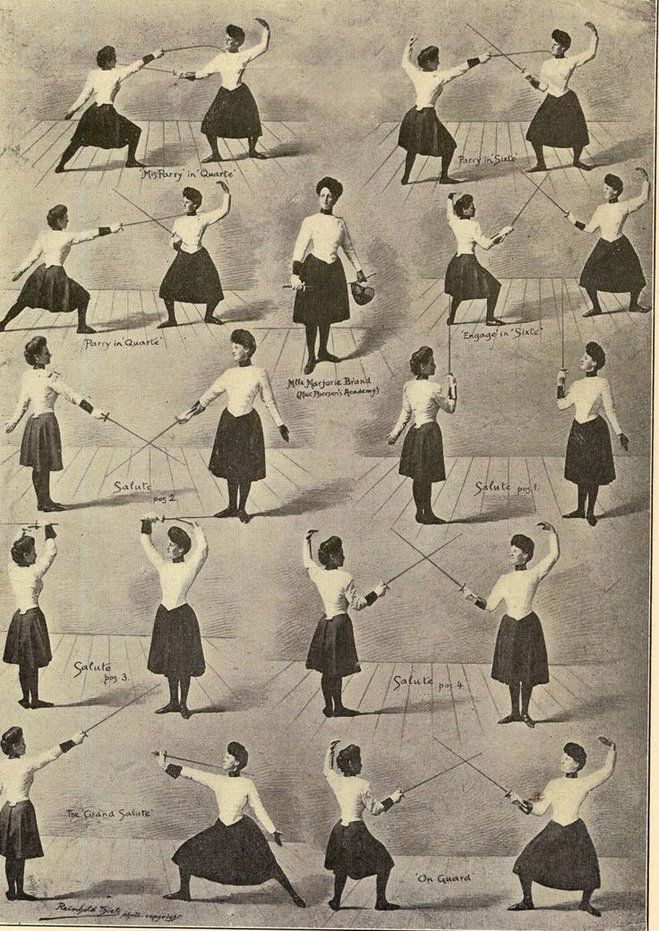 fencing moves. Victorian or Edwardian woman fencer, vintage fencing photograph. PUT YOUR MASK ON!