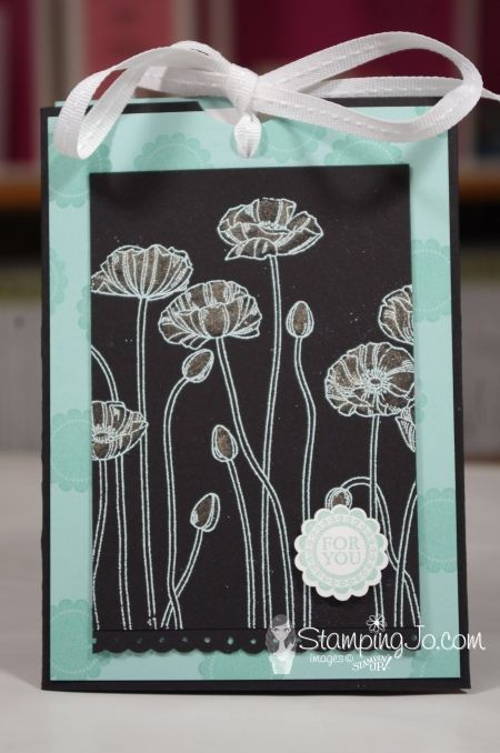 Let's have fun creating a SLIDER CARD using 2 amazing Stampin' Up! stamp sets...Pleasant Poppies & A Round Array. Click to check out the how-video!