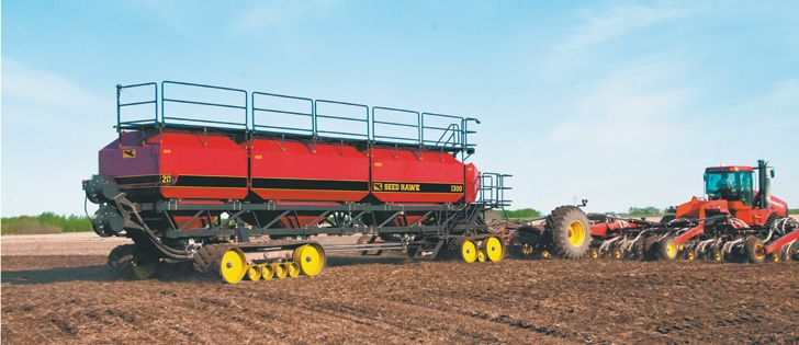 tractor air drill | Seed Hawk's new air seeder cart, capable of holding 1,300 bushels of ...