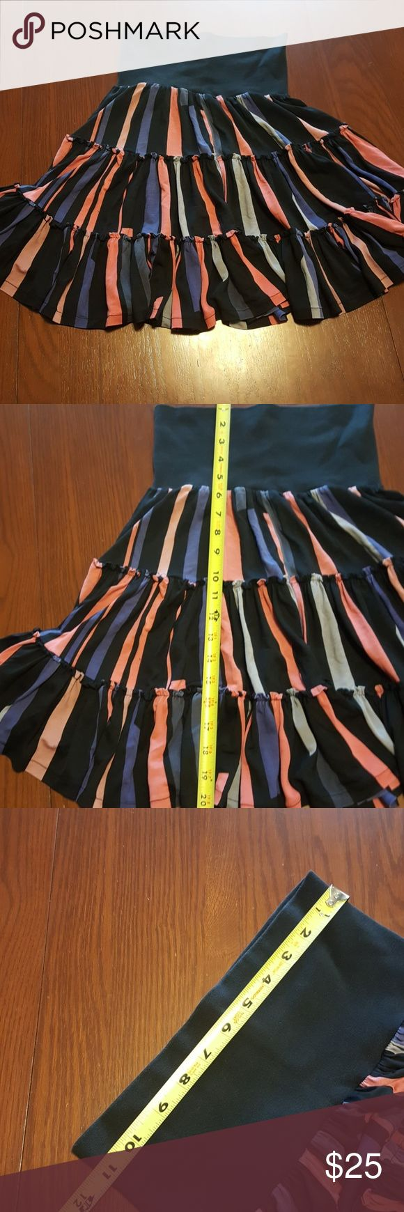 French Connection awesome stripe full skirt NWOT funky fun skirt French Connection Skirts Midi