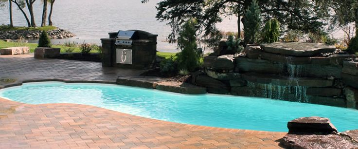 1000 images about fiberglass inground pools nj on for Fiberglass pool manufacturers