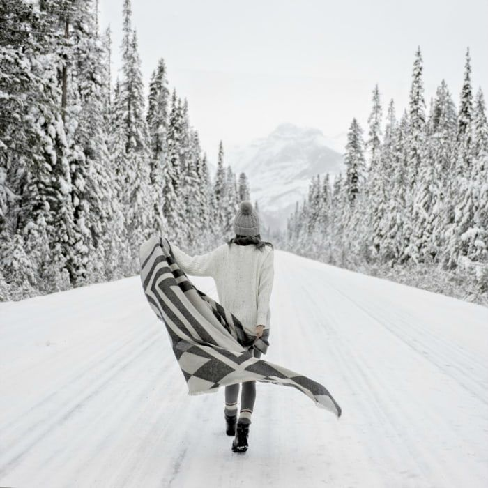 Schöne Winterfotos vom abdominalen hypnotischen Effekt