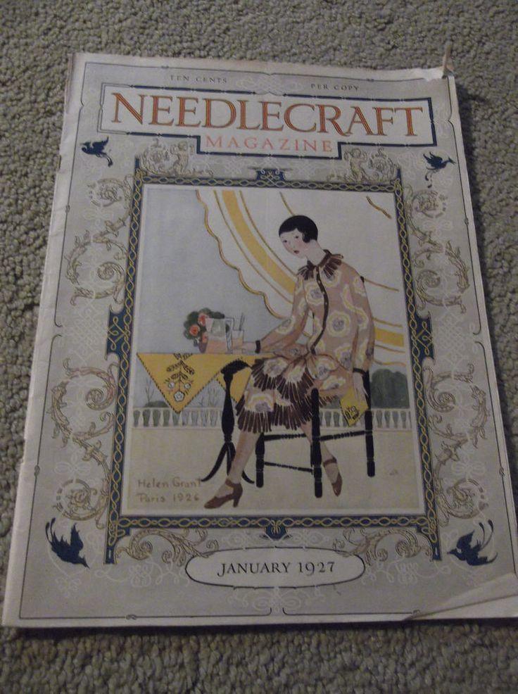 VINTAGE-JAN 1927 NEEDLECRAFT MAGAZINE-NICE ADS-HELEN GRANT COVER-UNIQUE GIFT