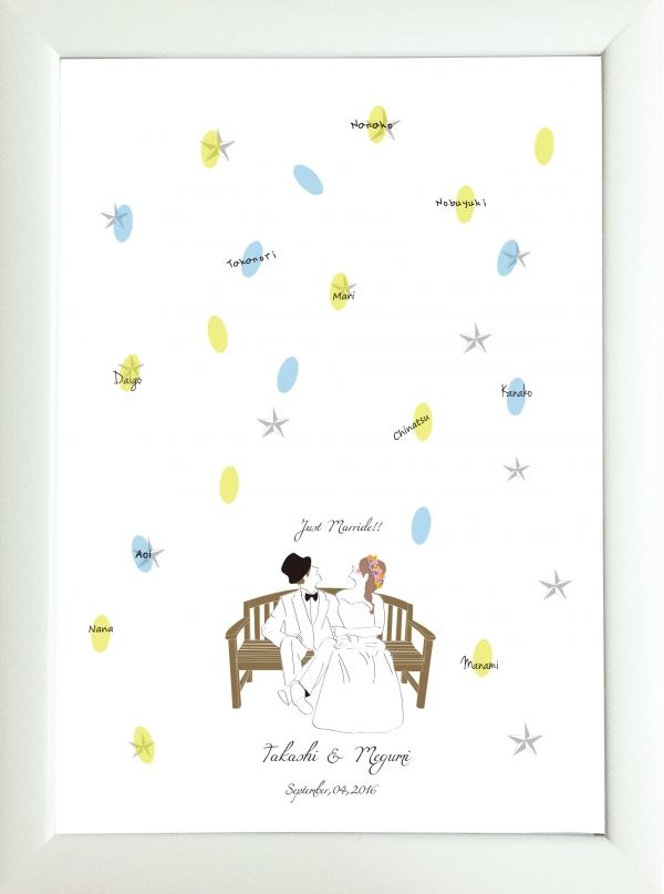 WEDDING STARRY SKY | ブライダル | ■【ウェディングツリー&結婚証明書】 | 席札、席次表、ウェディングツリーや出産祝いに適したアイテムを取り揃えております