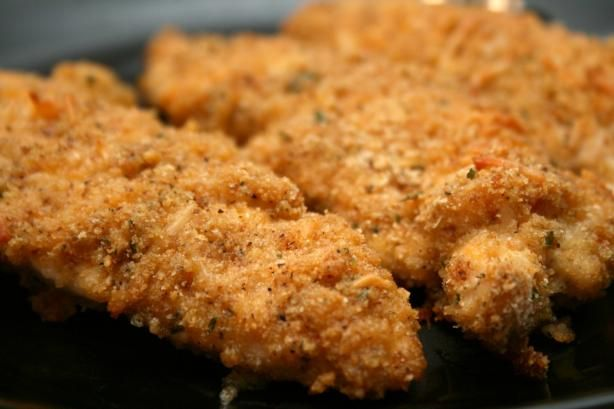 * Cheddar Garlic Oven Fried Chicken Breast