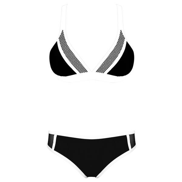PRIME - Inky Noir   Mesh details on monochrome bikini for that sporty and edgy look.  #OluAustralia