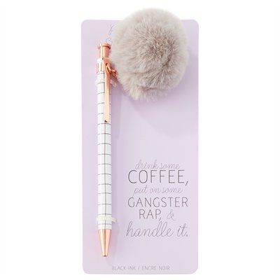 It's next to impossible to not want to pen all of your daily to-dos and more into your calendar with this must-have Cher Horowitz-inspired pen. Designed with boss babes in mind, each pen is fashioned with a retractable tip to avoid any mishaps in your handbag. Black ink. Available only at Indigo.