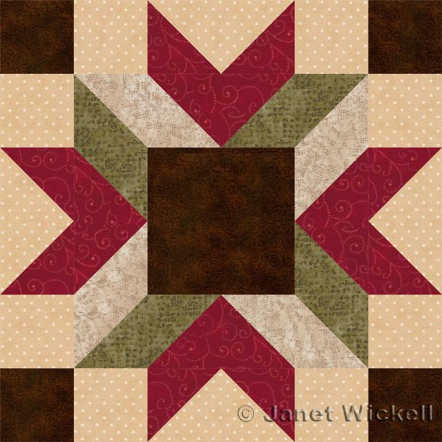 It's Easy to Create a 3D Look with the Merry Kite Quilt Block Pattern: Merry Kite Quilt Block Pattern