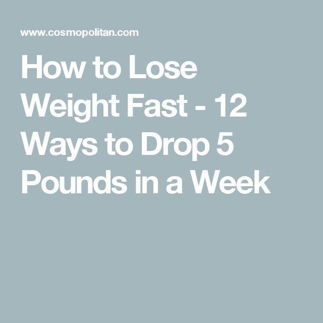 Wie man schnell Gewicht verliert – 12 Wege, um 5 Pfund in einer Woche zu verlier…