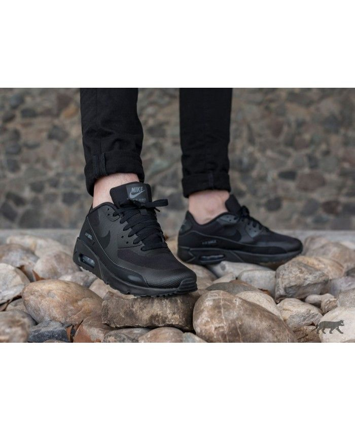 9f825223190 Nike Air Max 90 Ultra 2.0 Essential all Black Mens Trainers Sale UK ...