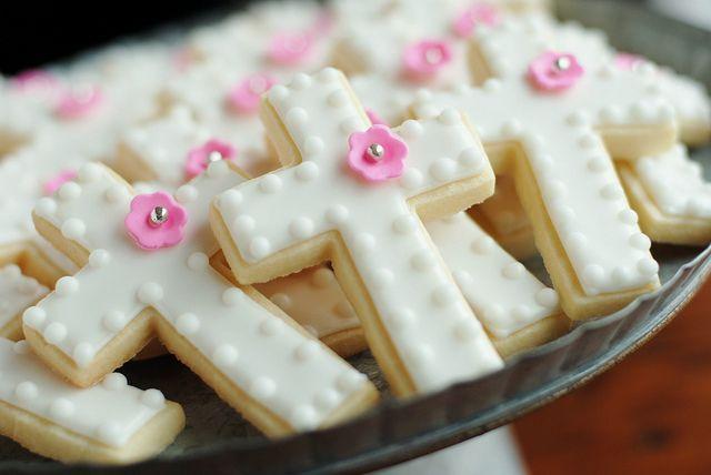 Cross cookies nice and simple but elegant.