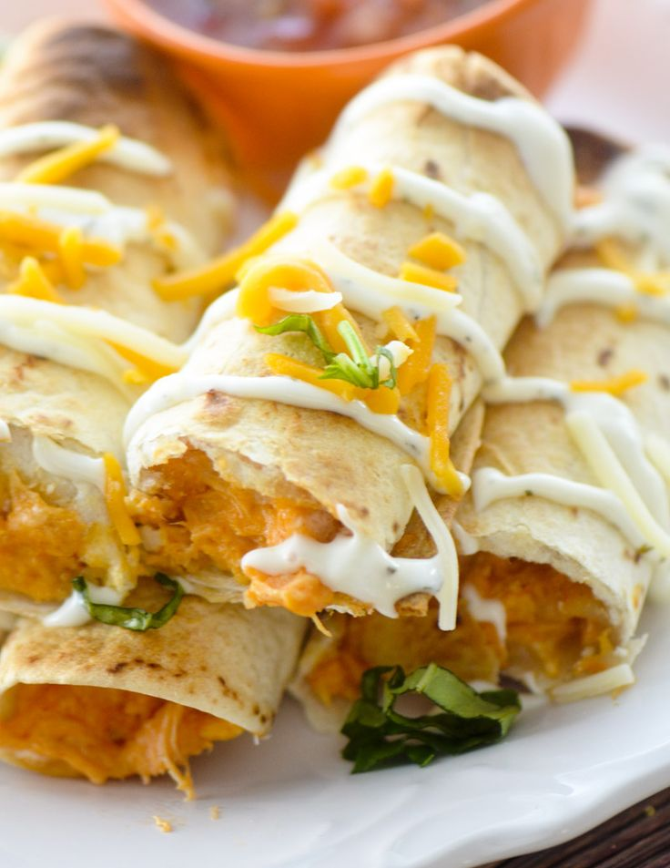 Baked Buffalo Chicken Taquitos for Weight Watcher's - 4 smart points - Recipe Diaries - Game day food