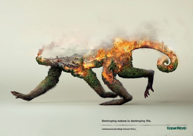 Destroying Nature is Destroying Life Itself. These powerful images help share the message.