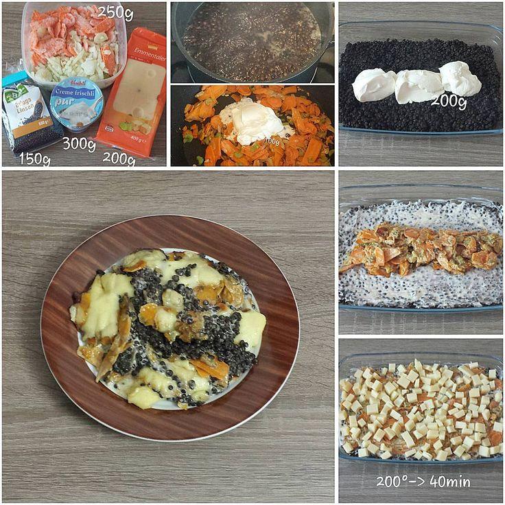 """Gefällt 0 Mal, 1 Kommentare - step by step cooking (@spoonfulofcooking) auf Instagram: """"#Belugalinsen- #Auflauf. #Möhre #Karotte #Sellerie #Linsen #Schmand #Emmentaler #Käse #carrot…"""""""