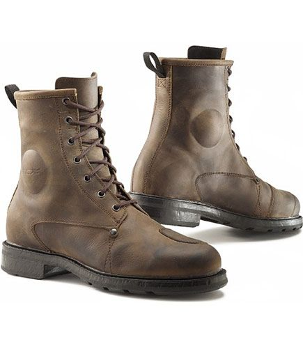 Beautiful, vintage full-grain leather on these TCX X-Blend waterproof boots in brown.