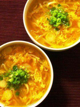もやしとキムチとタマゴのおかずスープ