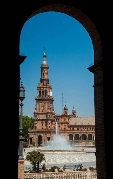 Taxi Protests and a Birds Eye View - Seville, Spain