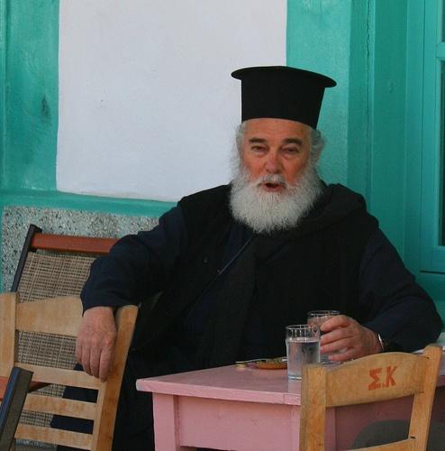 PATMOS Island,Orthodox priest