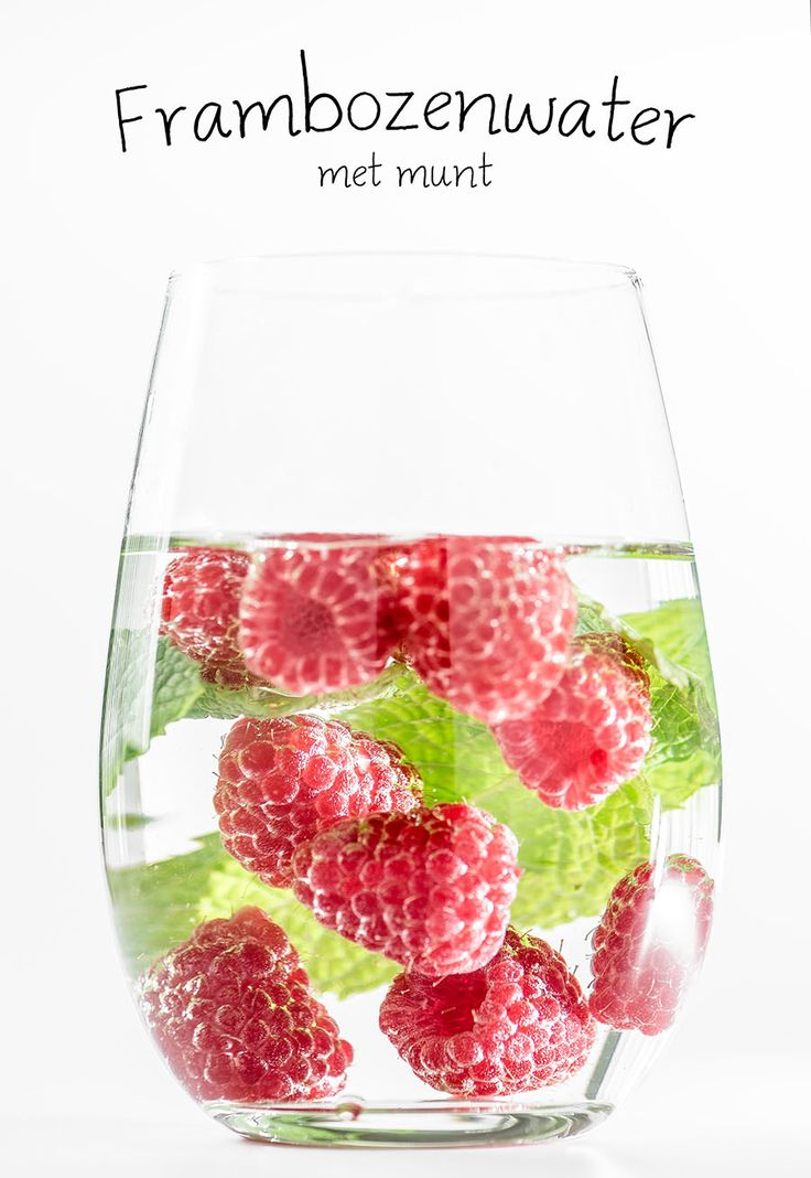 Frambozenwater met munt