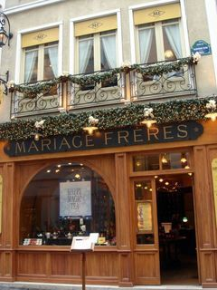 Mariage Freres tea salon in the Marais, Paris -- not to be missed for anything!!