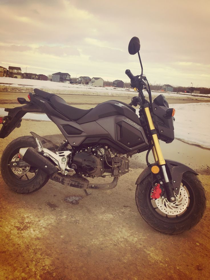Honda grom msx125  It will help you learn how to ride but not so much of a highway companion(i'd advise as not to take it there in the first place), because the streets im practicing on, allow a mere 30-50km/h , still with the wind and gravel, i have trouble  balancing it as a novice rider.