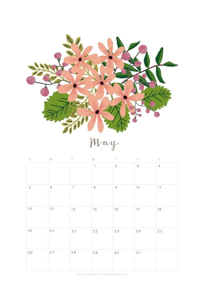 printable may 2019 calendar monthly planner  2 designs