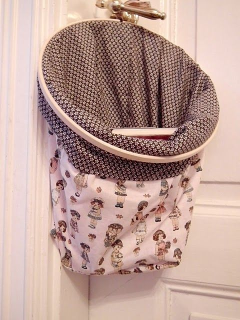 Embroidery hoop pillow tutorials embroidery hoops for Louis vuitton bin bags