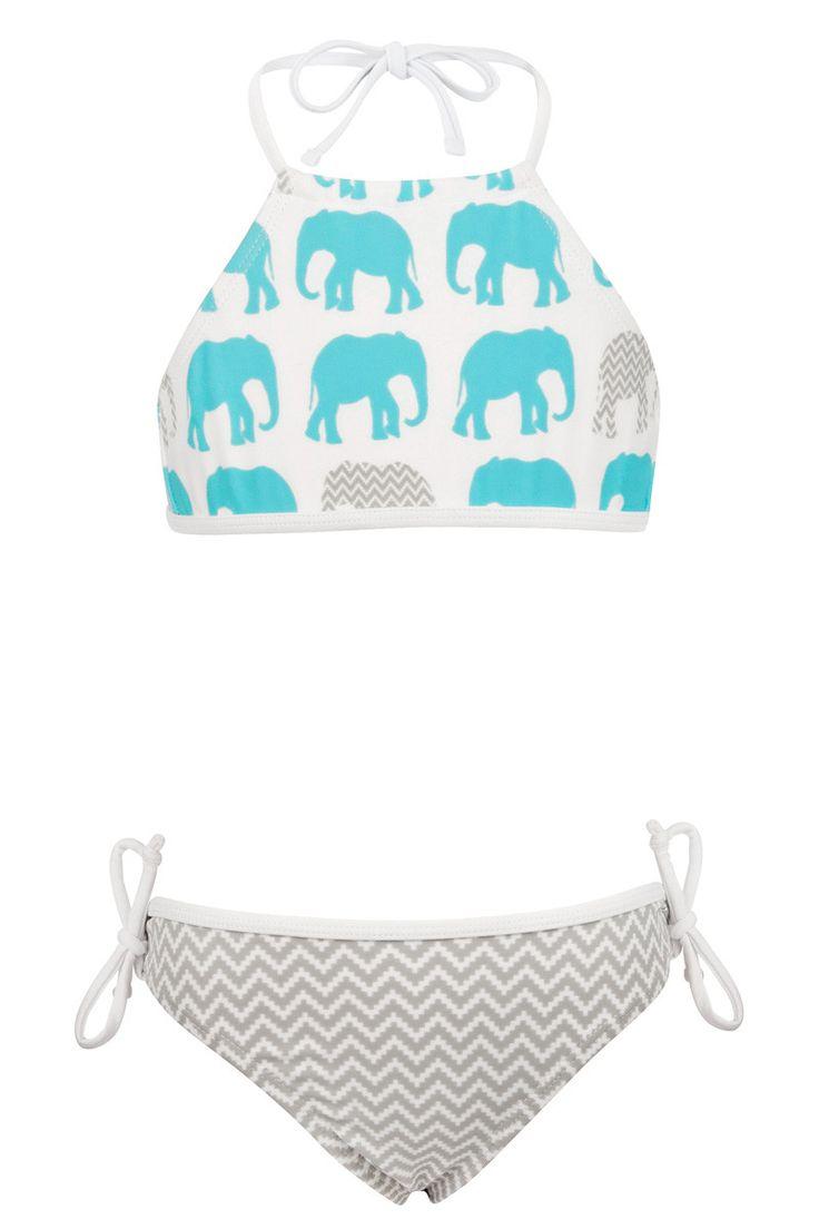Snapper Rock Aqua Elephant Halter Bikini