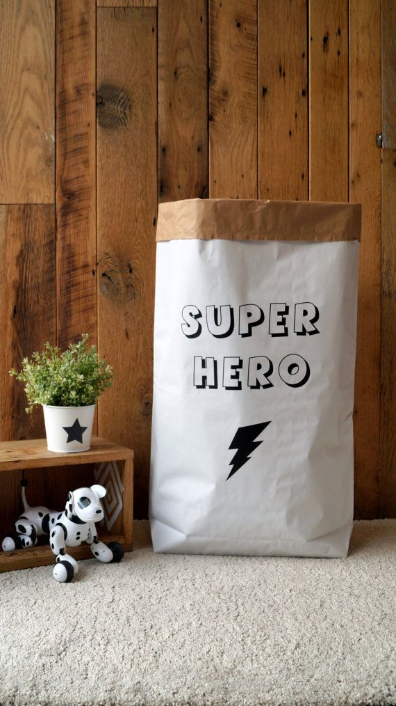 U0027Super Herou0027   Personalised Toy Bag/ Storage Bag / Paper Toy Bag / Storage  For Soft Toys, Blankets, Teddies, Toys And Many More