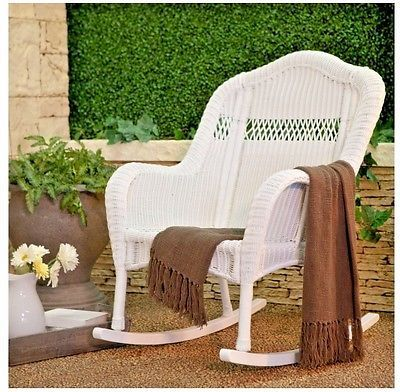 Rocking Chairs For Adults Outdoor White Wicker Porch Patio Furniture Victorian