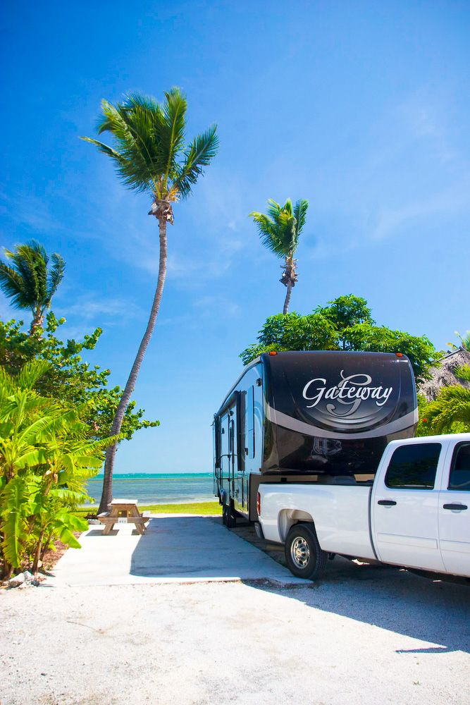 """""""We stayed at Sunshine RV Resort and felt very fortunate to have gotten a beach-front site. It's one of the benefits of going in the off season."""" - Jenn #GoRVing"""