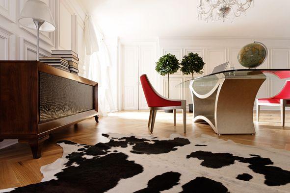 Home Office TZSAR designed by Lorenzo Bellini #SELVA #furniture #office #desk