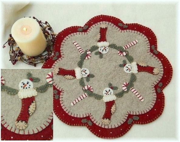 Free Printable Penny Rug Patterns Stockings Candle Mat Pattern