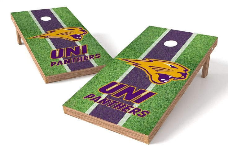 Northern Iowa Panthers Cornhole Board Set - Field (w/Bluetooth Speakers)