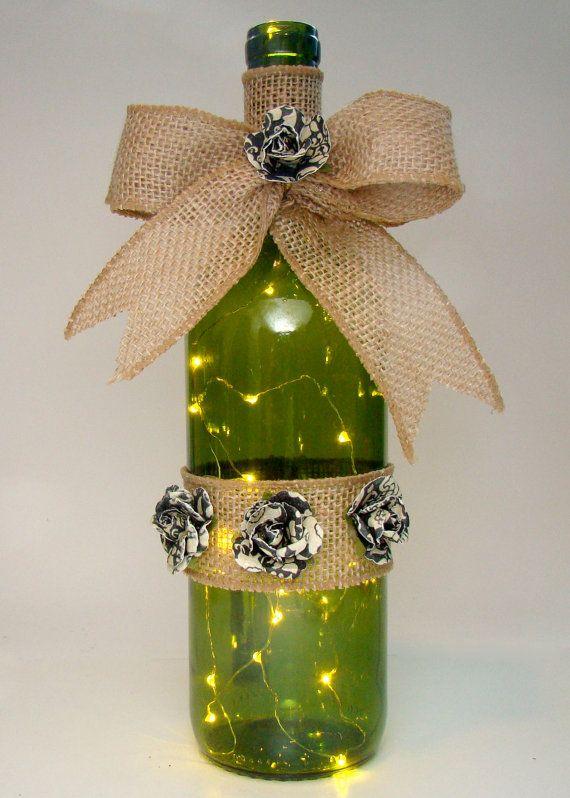 21 best images about lighted wine bottles on pinterest for Wine bottle night light diy
