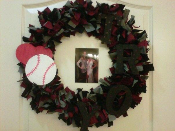 So proud of myself haha Troy baseball wreath