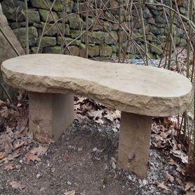 Natural Stone - Garden bench.