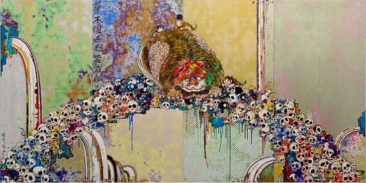 Takashi Murakami - A Picture of the Blessed Lion Who Stares at Death « Walton Fine Arts