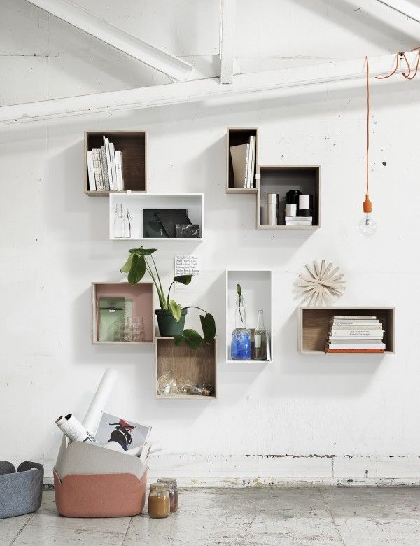 We love the Restore basket and Stacked hanging system by Muuto