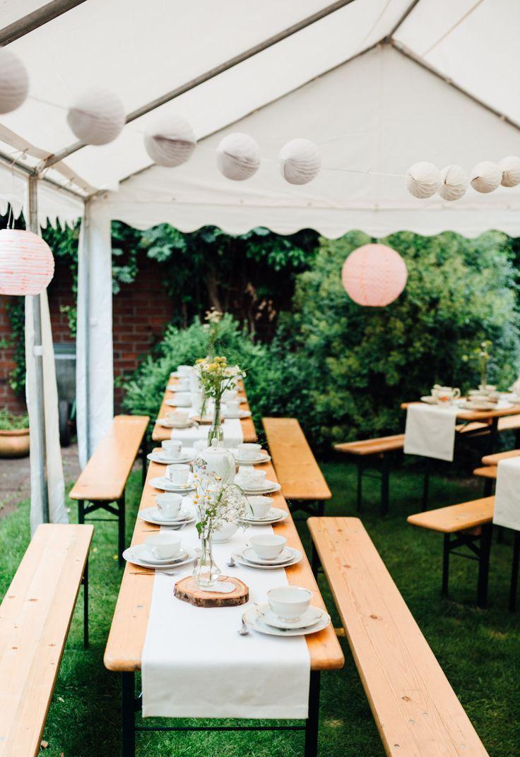 Lässige Gartenhochzeit mit Vintage Chic – Event & Hochzeit Blog