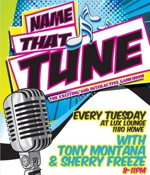 Name That Tune TUESDAYS LUX LOUNGE