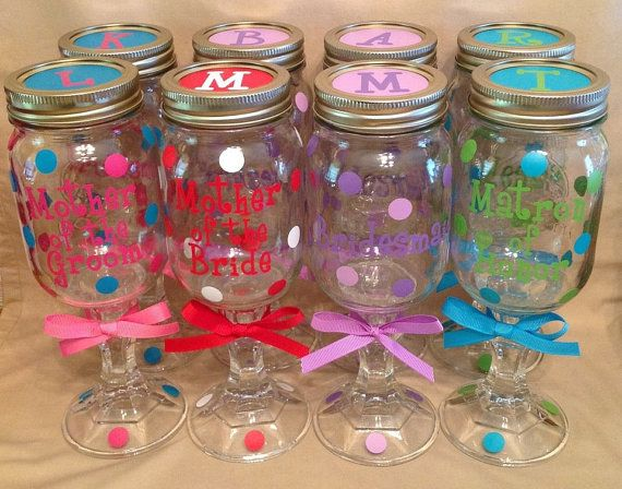 15 Personalized REDNECK WINE GLASSES Bridal Party Bride Bridesmaids Bachelorette Wedding Polka Dots on Etsy, $142.00