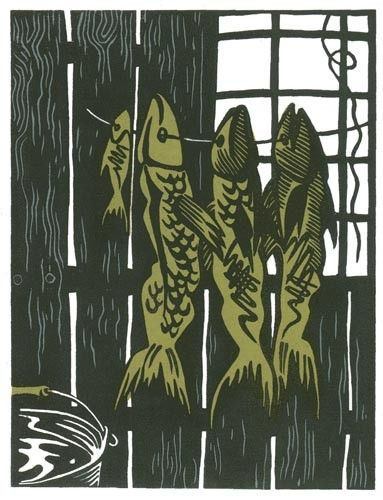 #linocut #illustration #fish