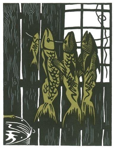#linocut #illustration #fish